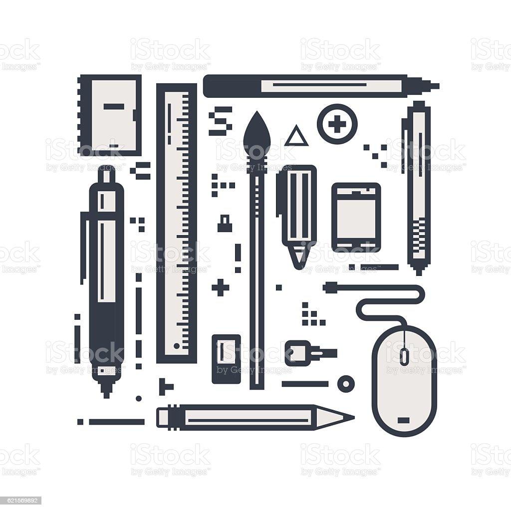 Design line items design line items - immagini vettoriali stock e altre immagini di applicazione mobile royalty-free