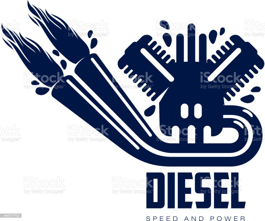 design logo motor gasoline – Vektorgrafik