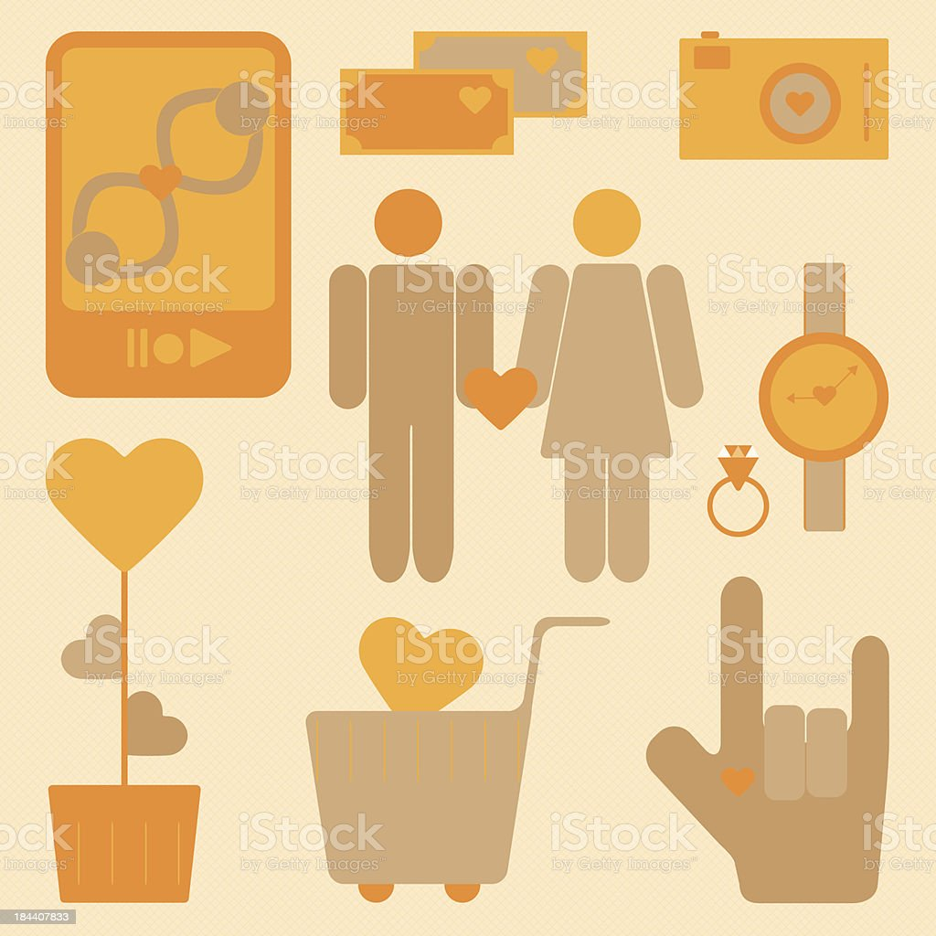 Design love and heart items royalty-free design love and heart items stock vector art & more images of adult