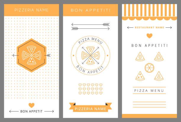design-menü. pizza. - pizzeria stock-grafiken, -clipart, -cartoons und -symbole