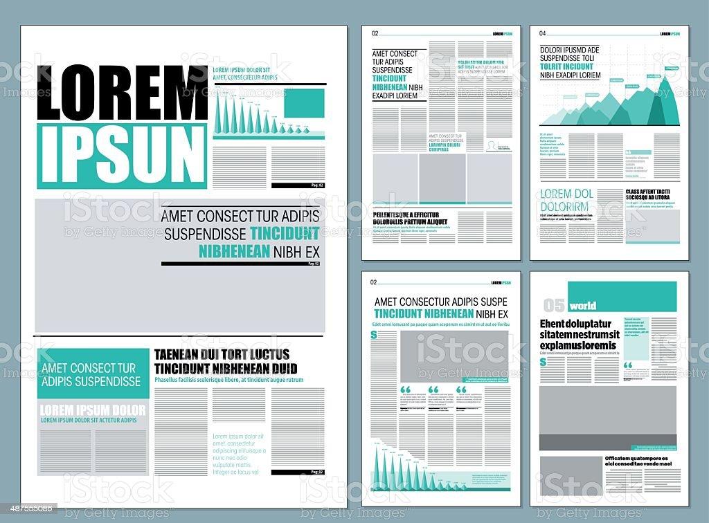 Design newspaper vector art illustration