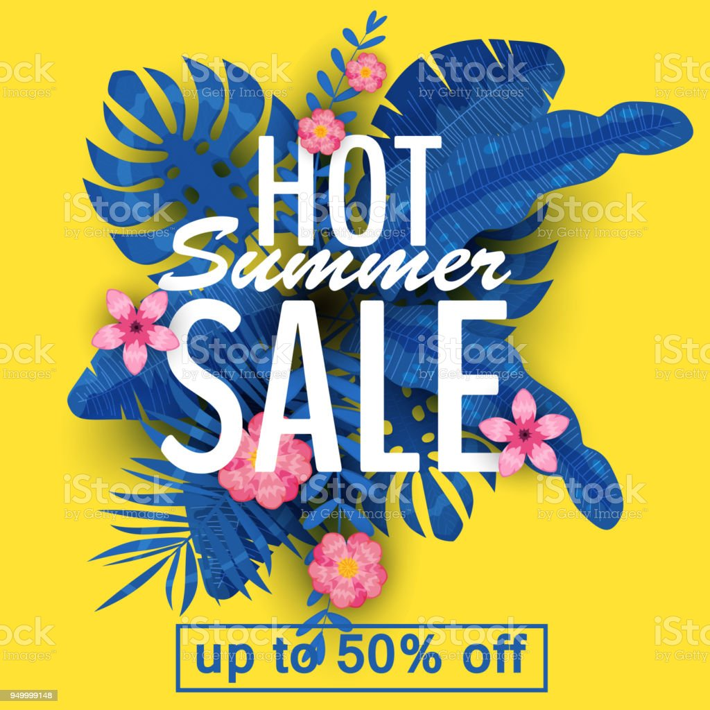 Design Of A Banner With A Logo Of Hot Summer Sale Offer For