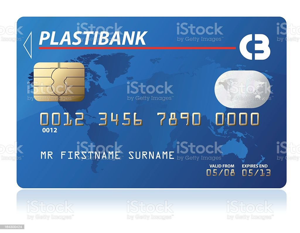 Design of a nonspecific credit card royalty-free design of a nonspecific credit card stock vector art & more images of blue