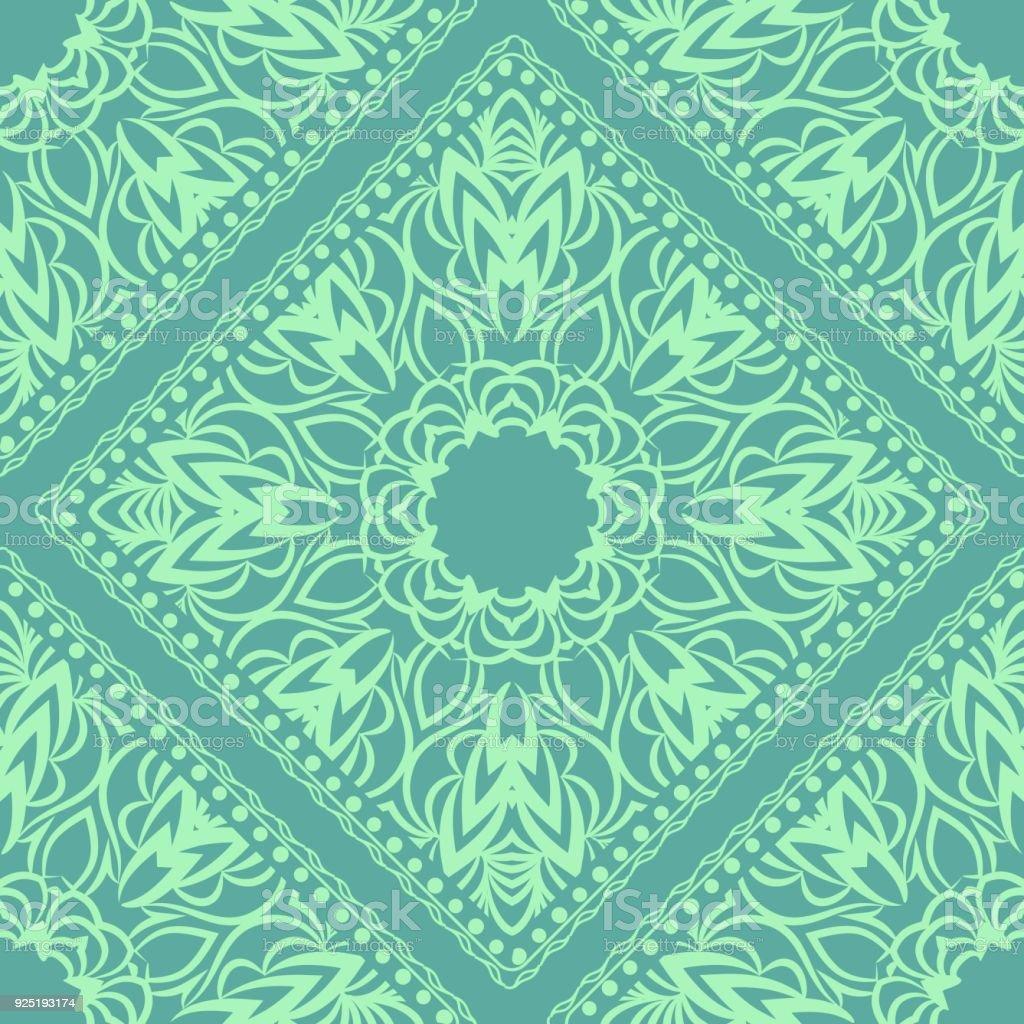 Diseño De Una Bufanda Con Un Patrón Geométrico De La Flor De Mandala ...