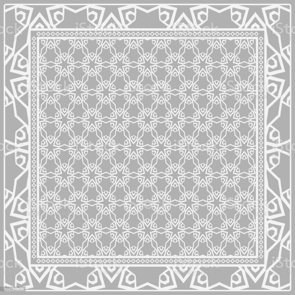 Ilustración de Diseño De Una Bufanda Con Un Patrón De Flores ...