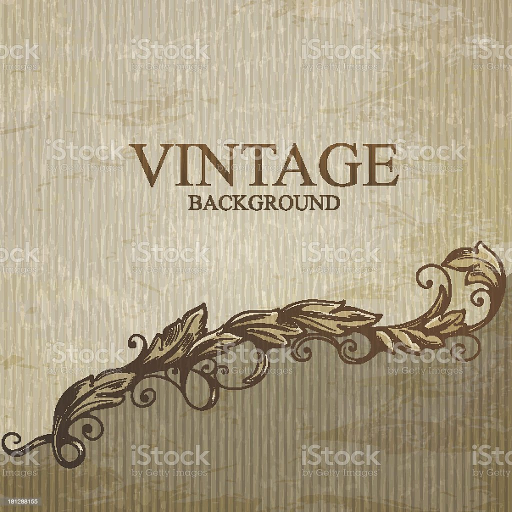 Design of a vintage background with leaves in murky colors royalty-free stock vector art