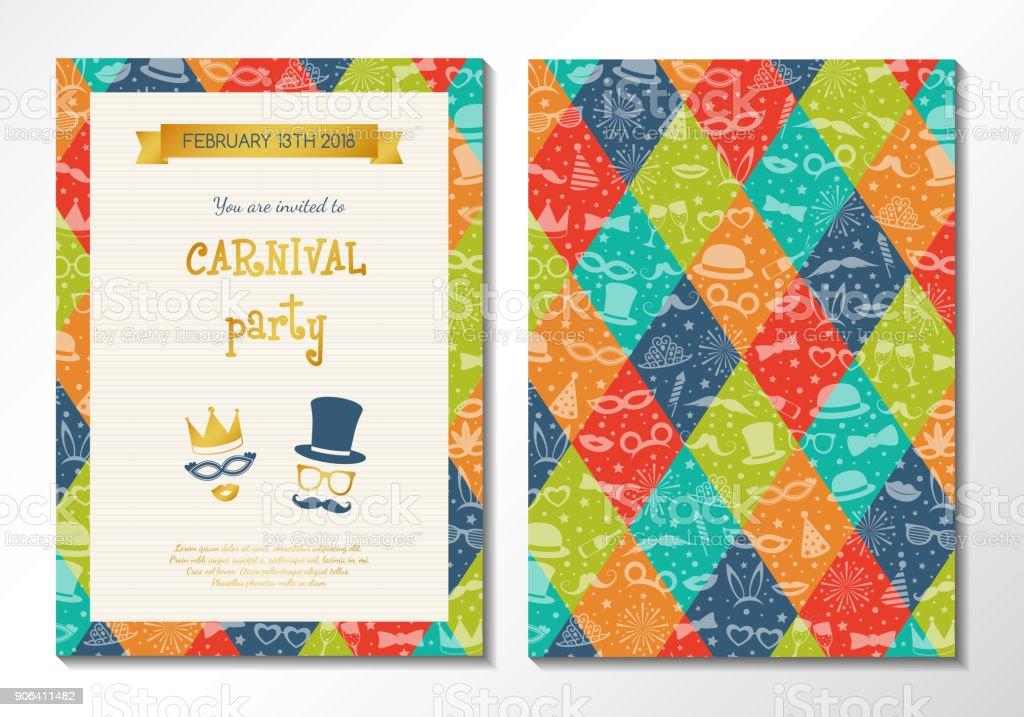 Ilustración De Diseño De Tarjeta Para Fiesta De Carnaval