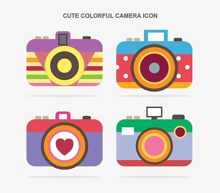 Design of colourful camera icon design