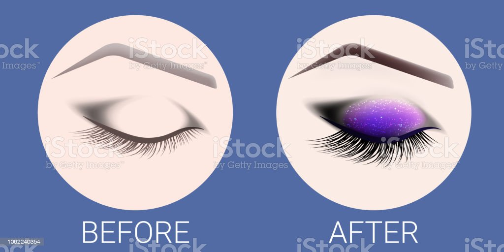 Design Of Eyebrows And Makeup Stock Vector Art More Images Of