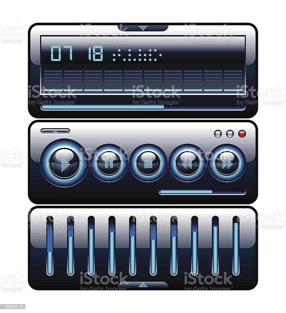 Design of media player royalty-free stock vector art