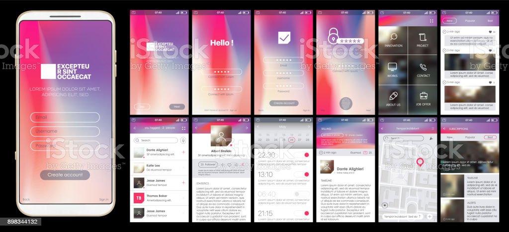 Conception d'applications mobiles - Illustration vectorielle