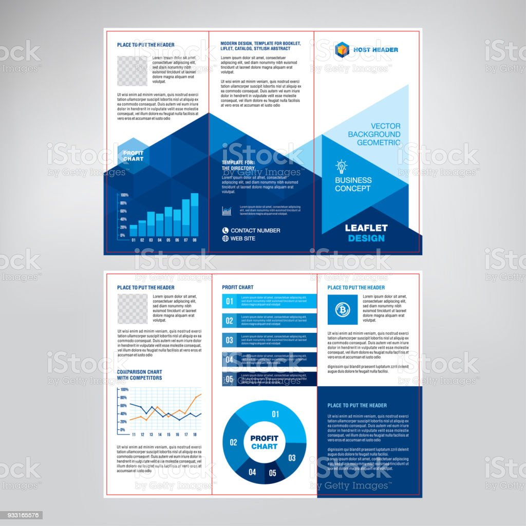 Gestaltung Von Katalog, Broschüre, Prospekt, Kreative Geometrische Blauen  Hintergrund, Moderne Business