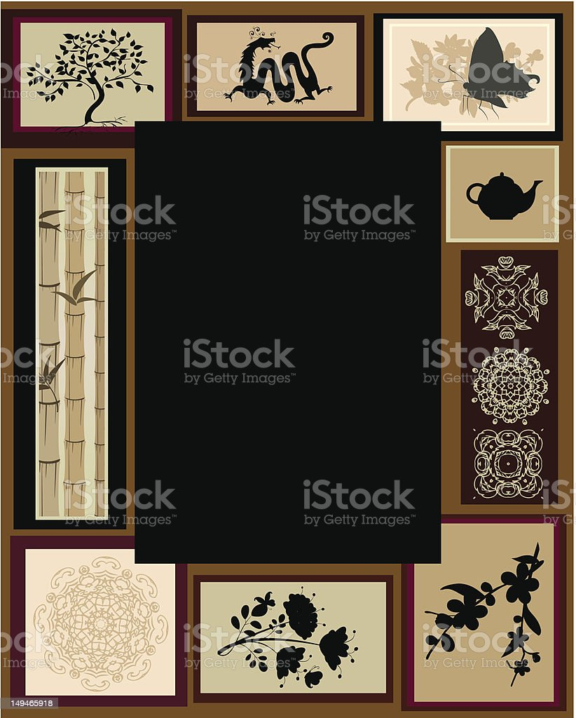 Design of the Chinese border ornaments royalty-free stock vector art