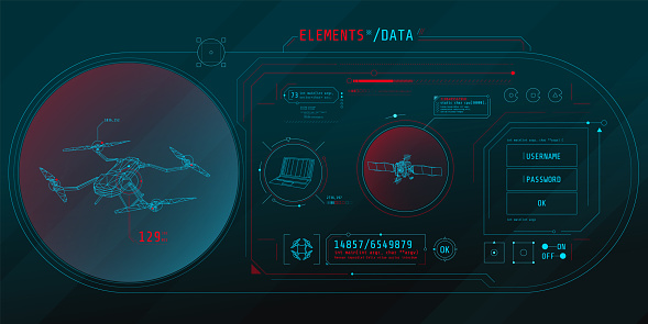 Design of the virtual interface of the drone protection program.