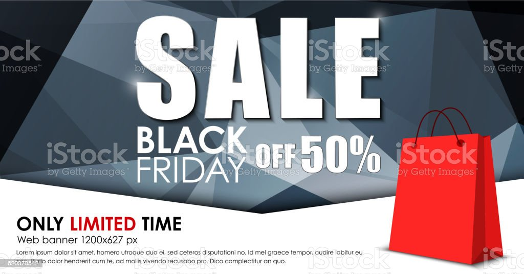 Design of web banner for sales on Black Friday design of web banner for sales on black friday - stockowe grafiki wektorowe i więcej obrazów abstrakcja royalty-free