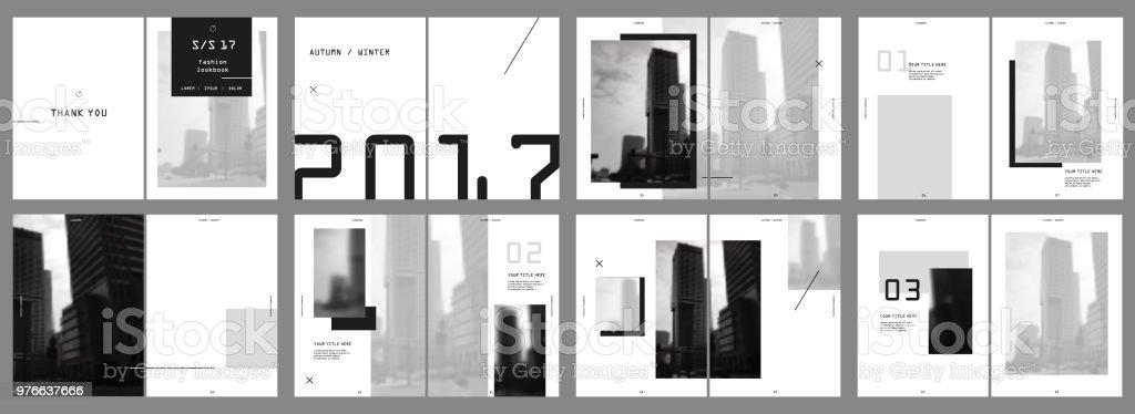 Design Fotografie Portfolio Vektor Vorlage Broschüren Flyer