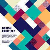 Web banner design template of design principles. Vector illustration design of interface elements for web pages, mobile banners or print posters.