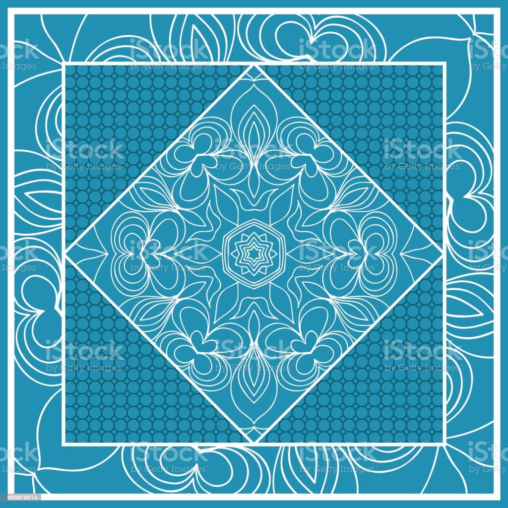 Print Design Für Kissen Vektorillustration Muster Mit Geometrischen ...