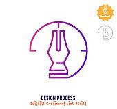 istock Design Process Continuous Line Editable Stroke Icon 1266350493