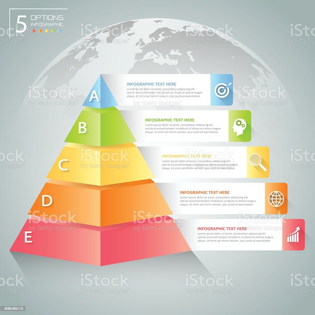 design pyramid infographic template business concept infographic の