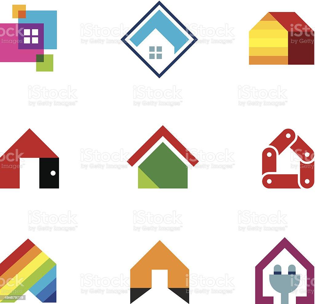 Design safe home real estate interior construction icon vector art illustration