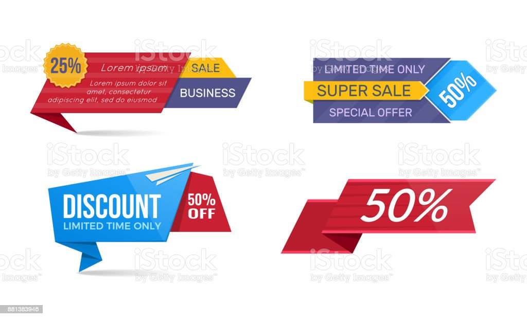 Design Sale Banners And Discount Stickers Special Offer Templates ...