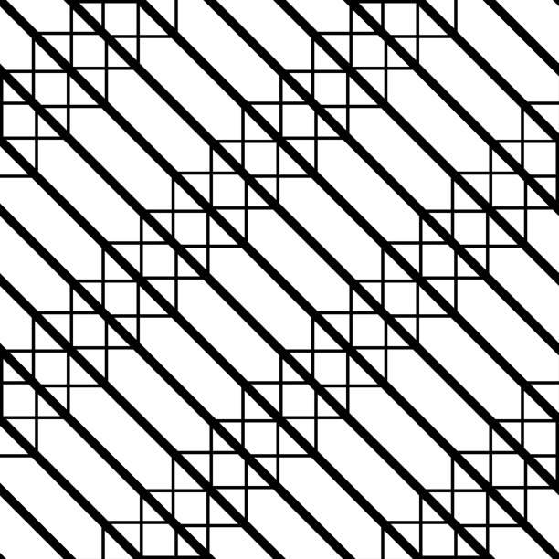 nahtlose monochrome gitter entwurfsmuster - gartendekorationen stock-grafiken, -clipart, -cartoons und -symbole