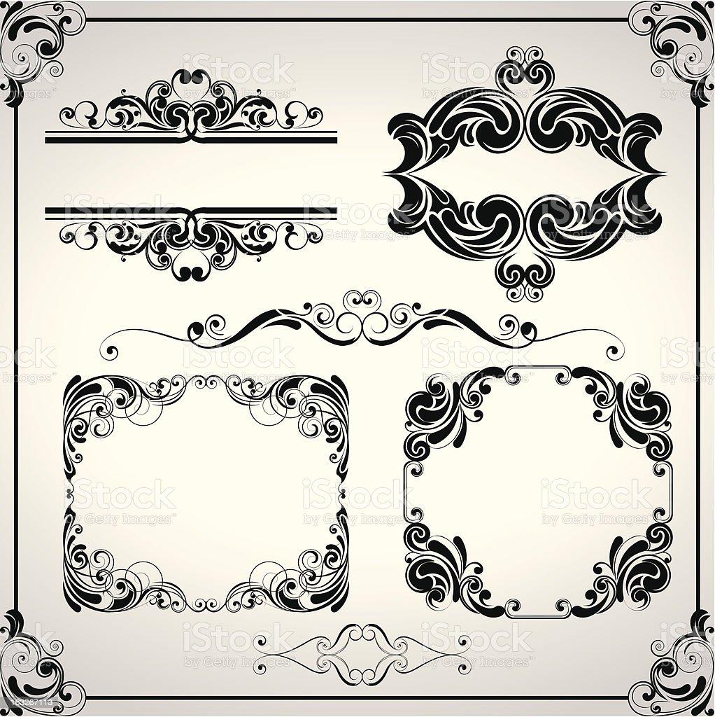 Design set of elements royalty-free stock vector art