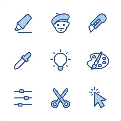 Design Studio - Pixel Perfect Blue icons