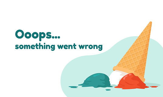 Design template 404 error page. Concept vector  illustration for page 404. Ooops... Something went wrong
