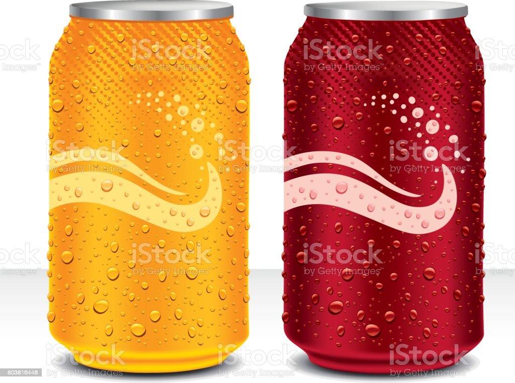 ontwerpsjabloon kunt sap drinken, cola, biervectorkunst illustratie