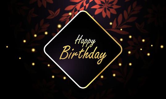 design template for birthday celebration. stock illustration