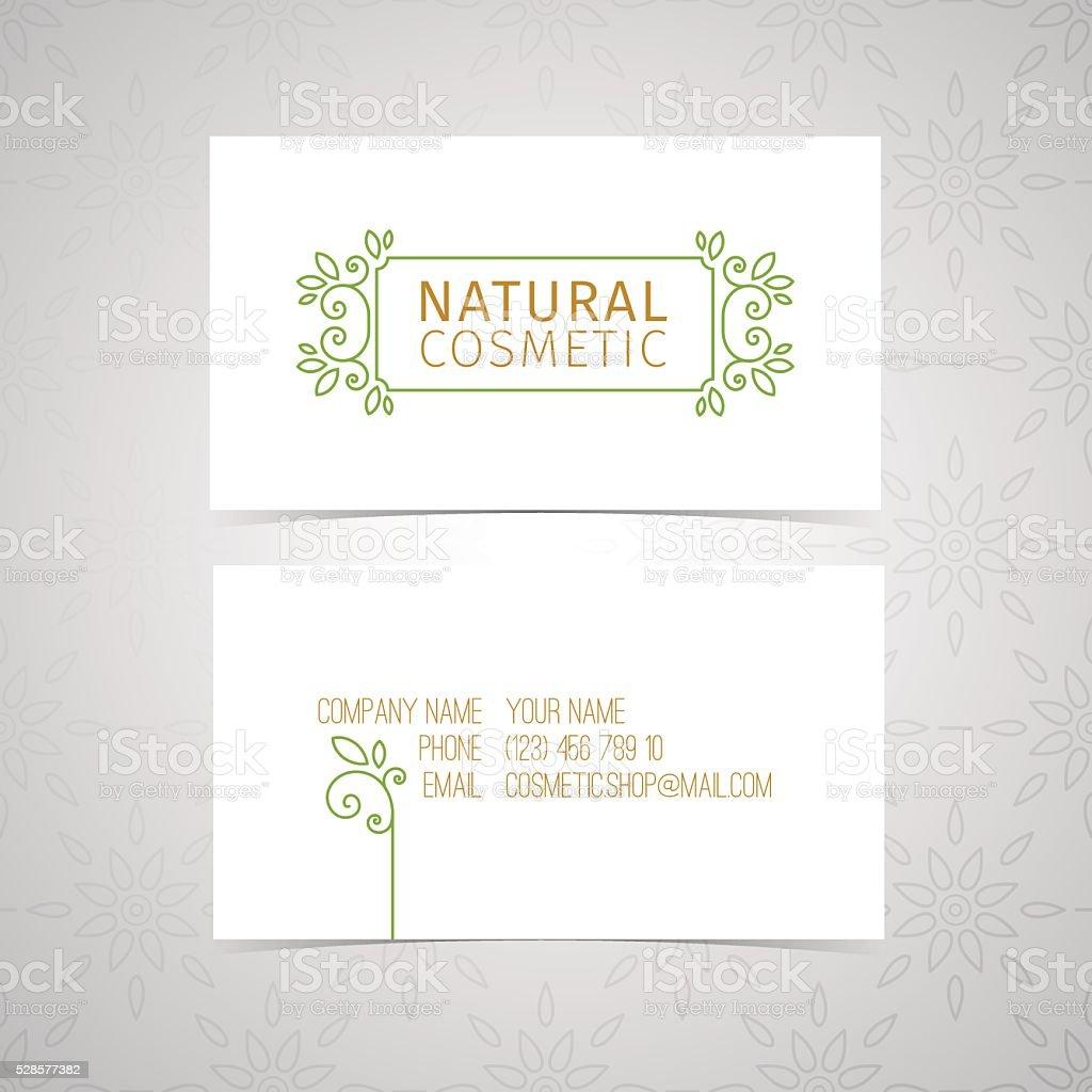 Modele De Conception Carte Visite Cosmetiques Naturels Bio