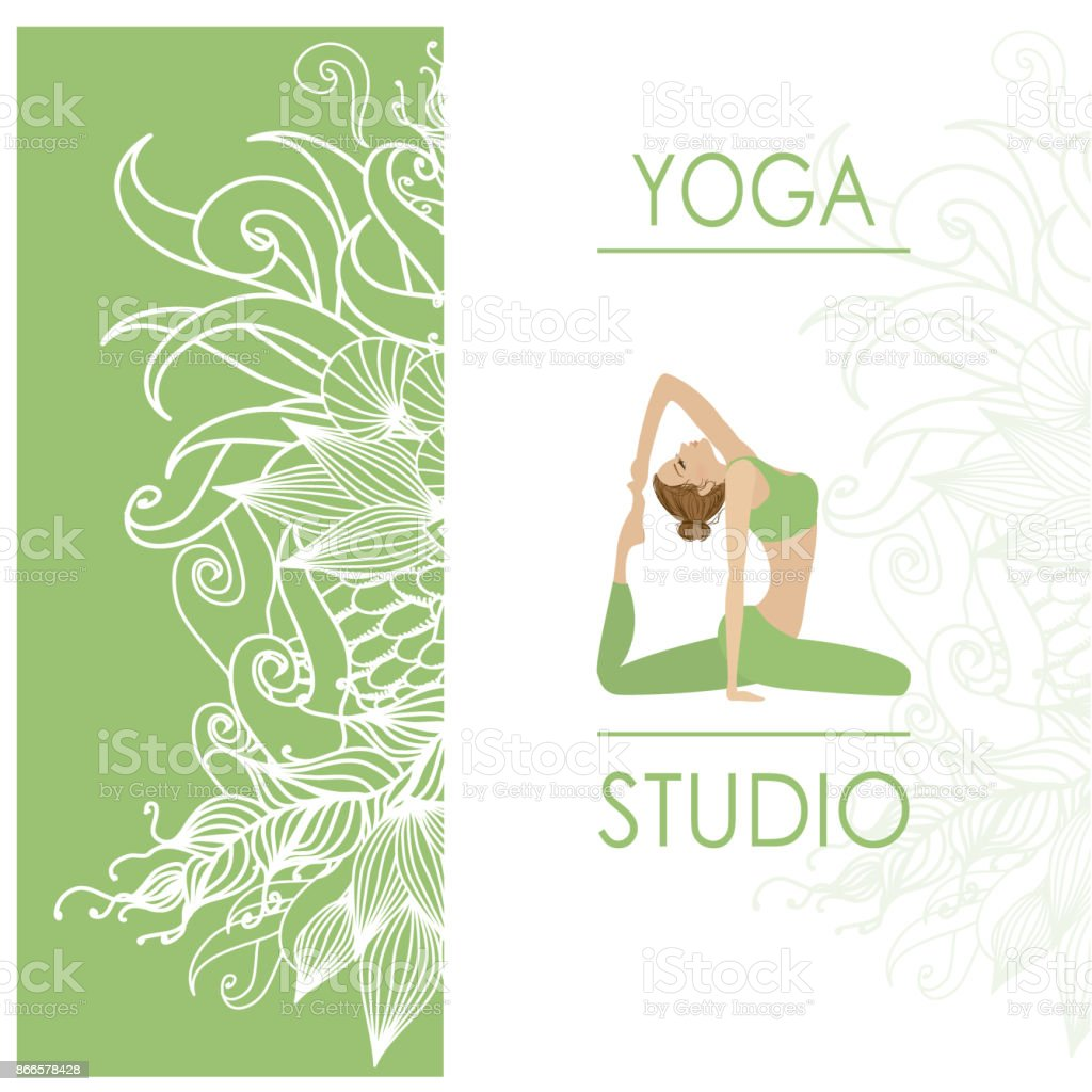 Design Template For Yoga Studio Business Card Stock Illustration Download Image Now Istock