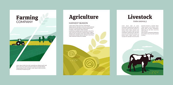 Design template of agriculture, farming and livestock