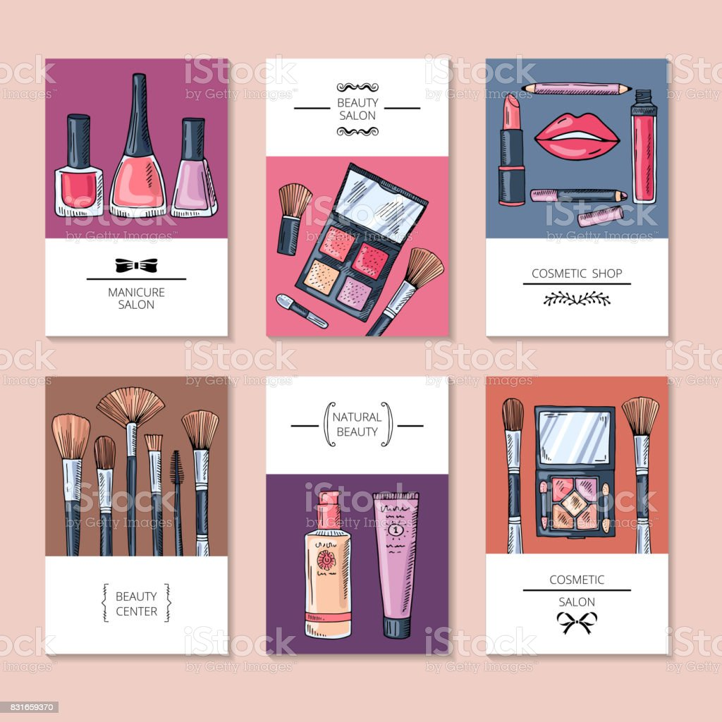 Design Template Of Different Business Cards Or Banners For Beauty Salon Stock Illustration Download Image Now Istock