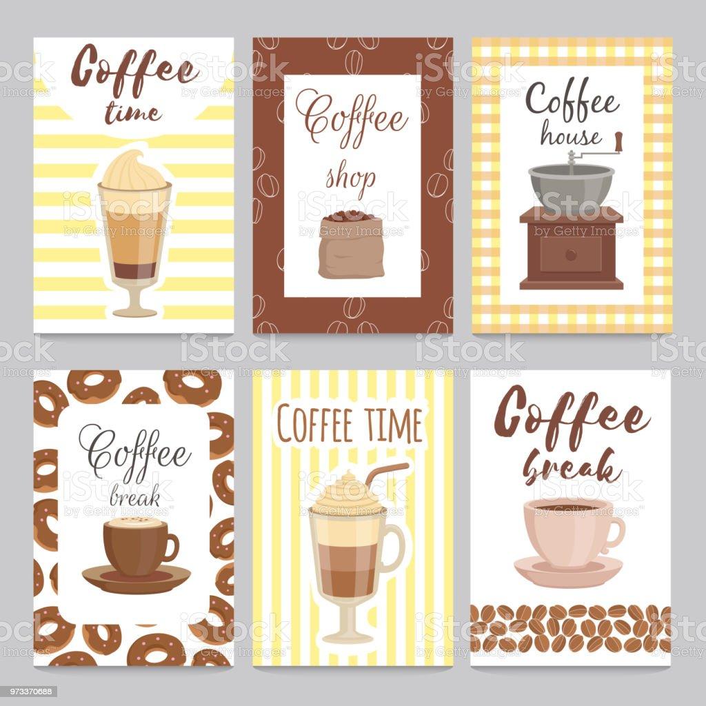 Designvorlage Von Vintage Karten Für Coffee Shop Stock Vektor Art ...
