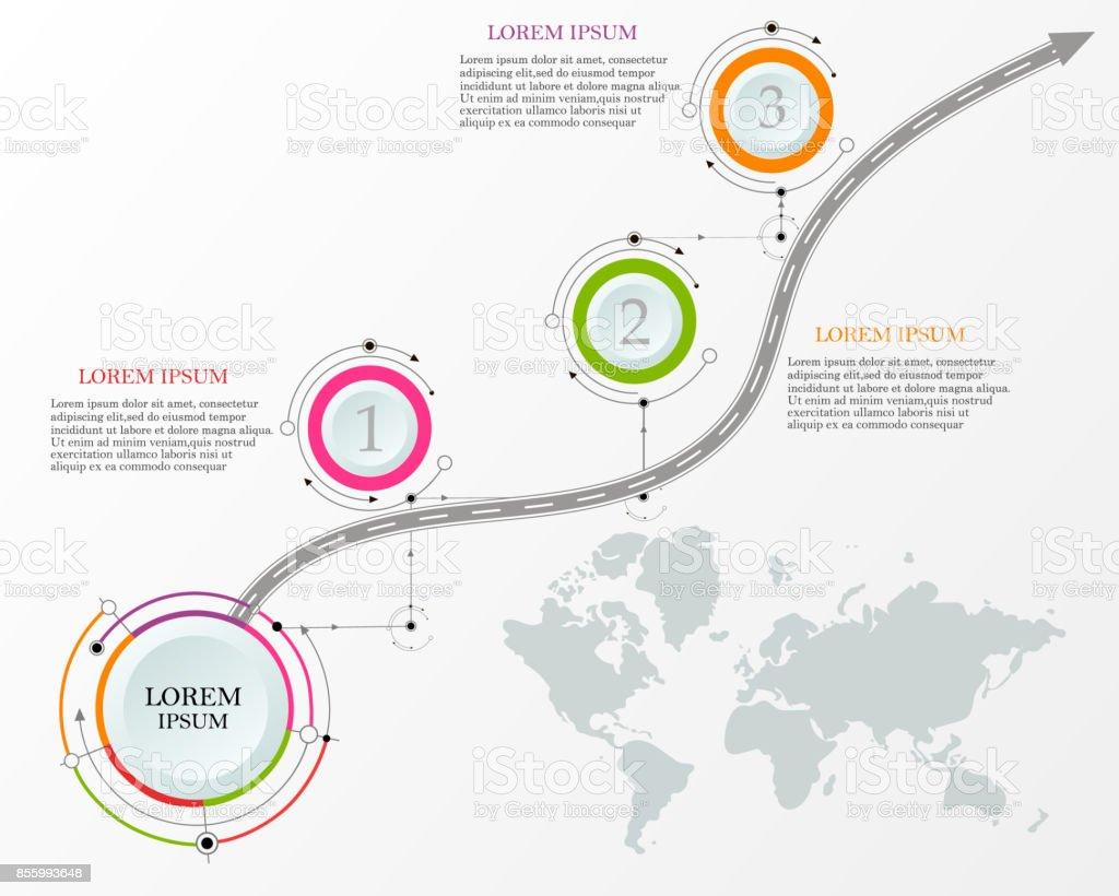 Design template: Road map business timeline, Vector Illustration vector art illustration