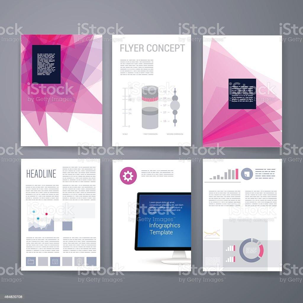 Juego De Diseño De Plantillas Para Sitios Web Folletos De Mensajes ...
