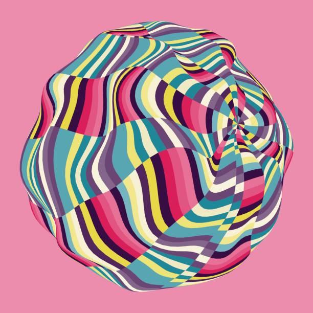 design-vorlage mit bunten mosaik kugel. abstraktes vektor-illustration. - surreal stock-grafiken, -clipart, -cartoons und -symbole