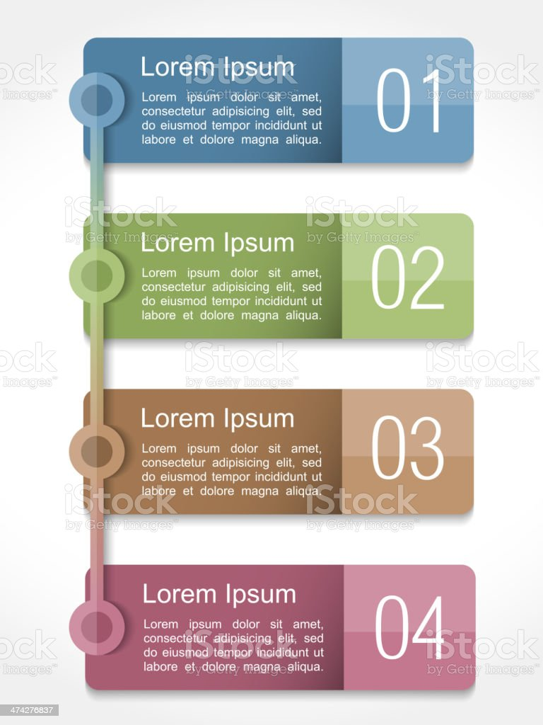 Design Template with Four Elements vector art illustration