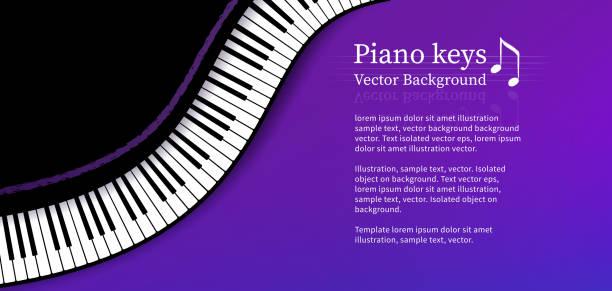 üst görünüm ile tasarım şablonu piyano tuşları - piano stock illustrations