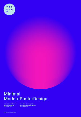 design template with vibrant gradient shapes