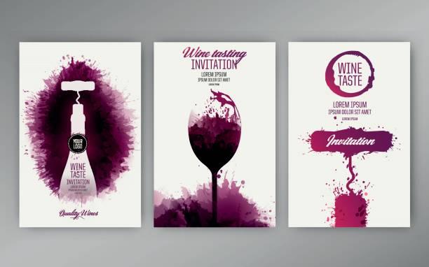 design vorlagen hintergrund wein flecken - weinkarte stock-grafiken, -clipart, -cartoons und -symbole
