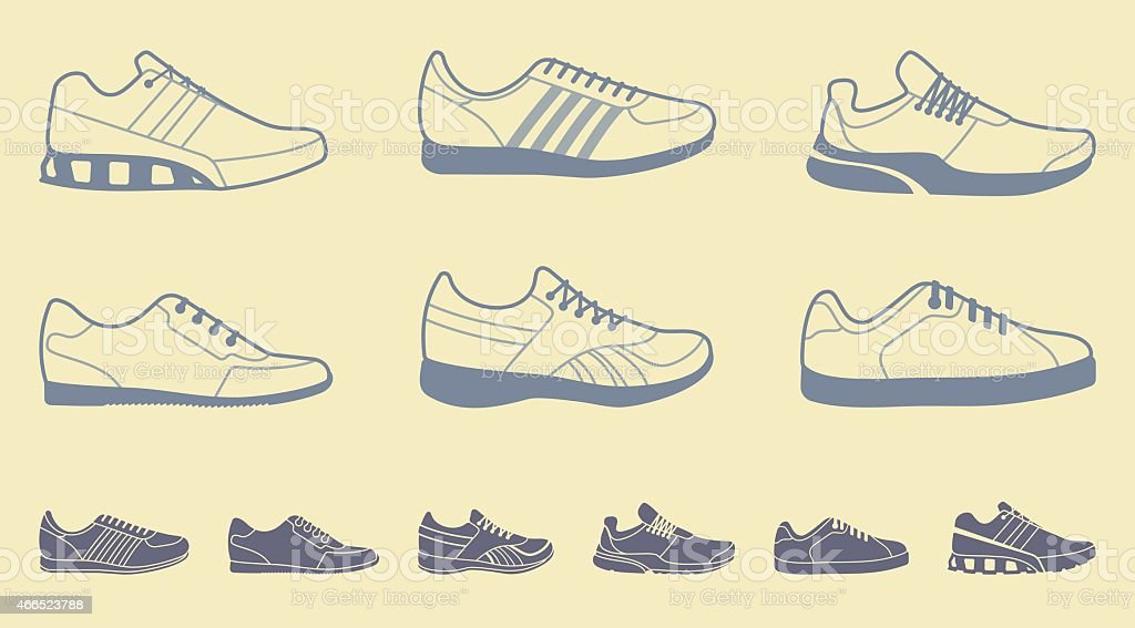 Well known Design Templates For Sports Shoes Stock Vector Art & More Images  JW41