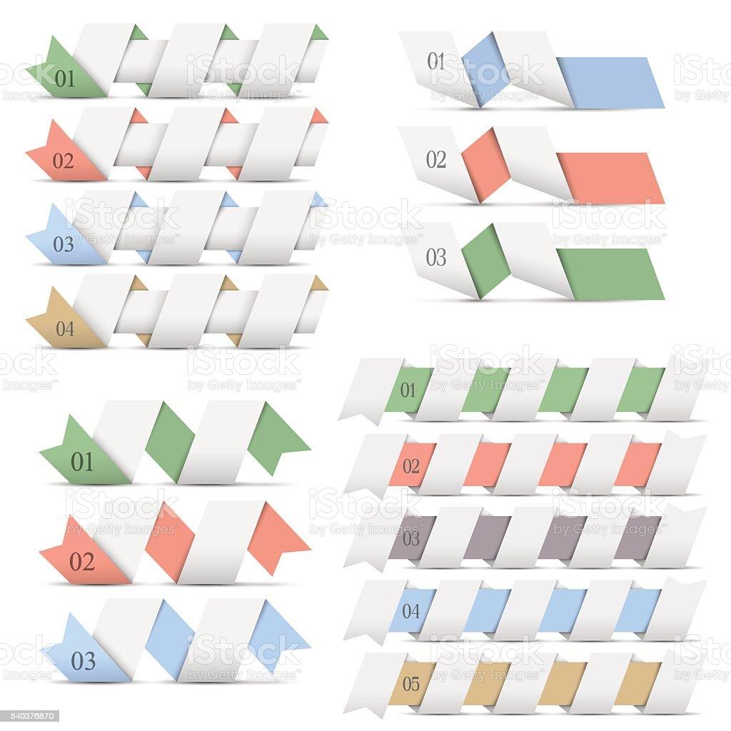 Ilustración de Plantillas De Diseño Banderas De Origami Para ...