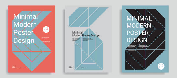 Design templates with simple geometric shapes. Set of modern abstract design templates with simple geometric shapes. Trendy color background. Applicable for covers, brochures, flyers, presentations, identity and banners. Vector illustration. Eps10 swiss culture stock illustrations