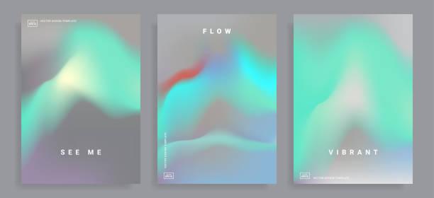 illustrazioni stock, clip art, cartoni animati e icone di tendenza di design templates with vibrant gradient - aurora polare