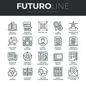 Design Thinking Futuro Line Icons Set