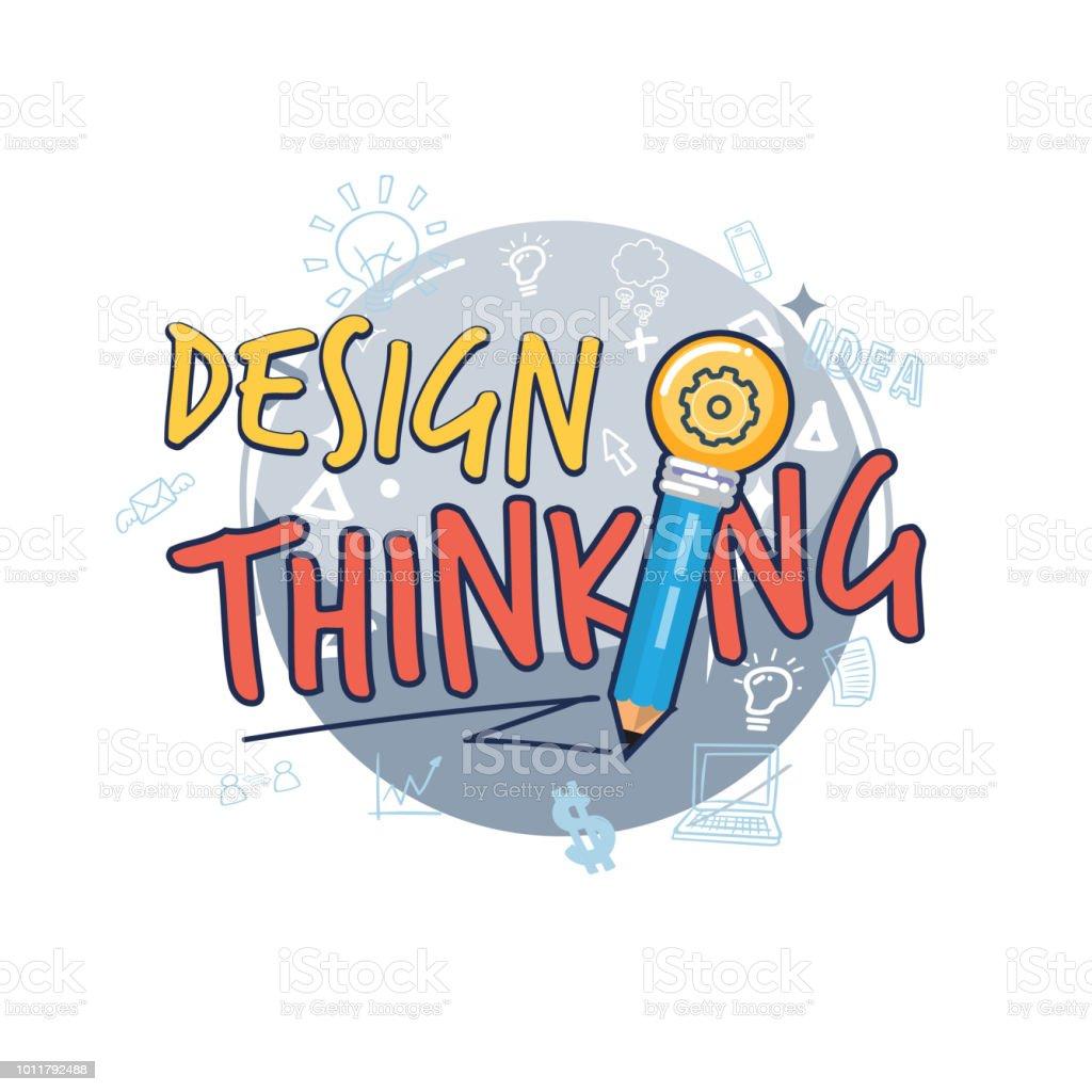 Design Thinking Symbol Design Thinking Logotype Or Typographic